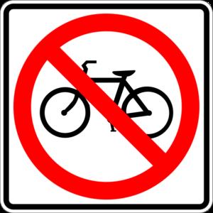 No bikes on the sidewalk